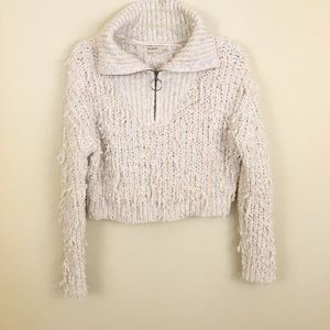 Pull&Bear Textured Multi Colored Crop Sweater S/M
